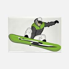 SnowboarderPocket Rectangle Magnet