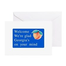 Welcome to Georgia - USA Greeting Cards (Package o