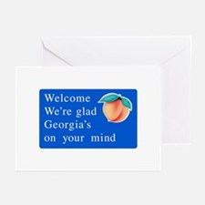 Welcome to Georgia - USA Greeting Cards (Package o