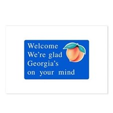 Welcome to Georgia - USA Postcards (Package of 8)