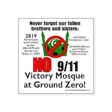 "victory mosque 3 Square Sticker 3"" x 3"""
