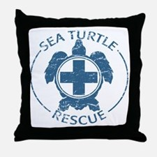seaturtlerescue Throw Pillow