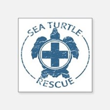 "seaturtlerescue Square Sticker 3"" x 3"""