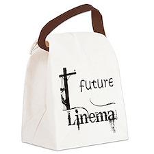 future lineman1_black Canvas Lunch Bag