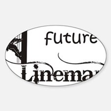 future lineman1_black Sticker (Oval)