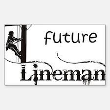 future lineman1_black Decal