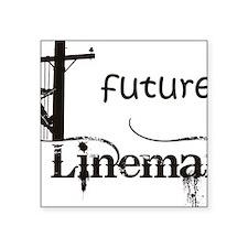 """future lineman1_black Square Sticker 3"""" x 3"""""""