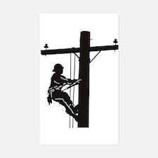 lineman silhouette 1_black Decal