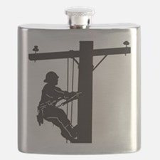 lineman silhouette 1_black Flask