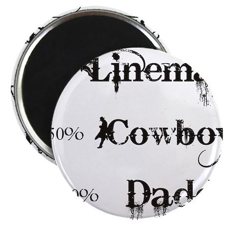 3 coyboy lineman daddy_black Magnet