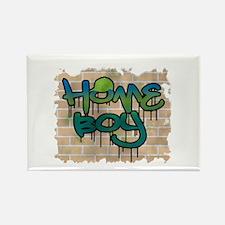 "Graffiti Style ""Home Boy"" Design Rectangle Magnet"