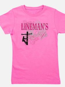 linemans wife3 white Girl's Tee