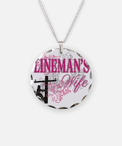 linemans wife3 white Necklace