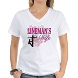 Electrical lineman Womens V-Neck T-shirts