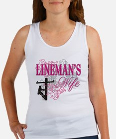 linemans wife3 white Women's Tank Top