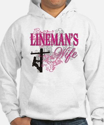 linemans wife3 white Hoodie