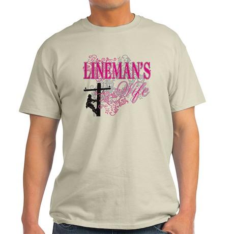 linemans wife3 white Light T-Shirt