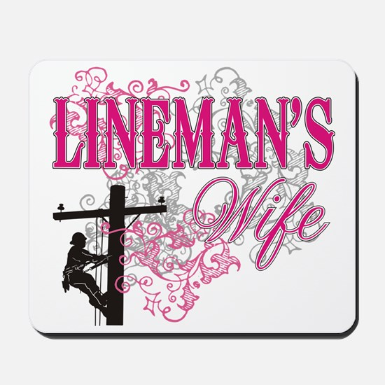 linemans wife3 white Mousepad