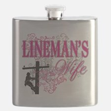 linemans wife3 white Flask