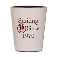 smiling 70 copy Shot Glass