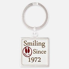 smiling 72 Square Keychain