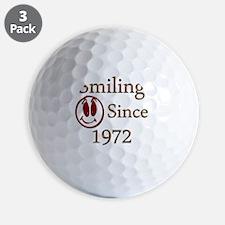smiling 72 Golf Ball
