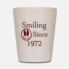 smiling 72 Shot Glass