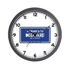 Welcome to Delaware - USA Wall Clock