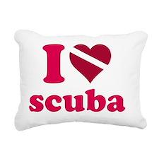 iheartscuba_line_pink_st Rectangular Canvas Pillow