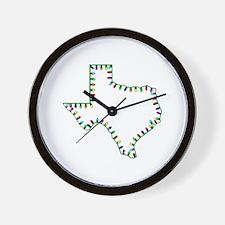 Texas Christmas Lights Wall Clock