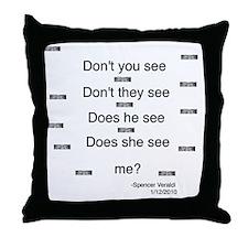 Eyes Poem Throw Pillow