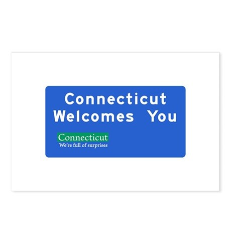 Welcome to Connecticut - USA Postcards (Package of