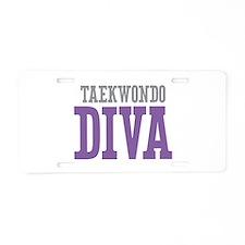 Taekwondo DIVA Aluminum License Plate