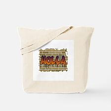 """Graffiti Style """"Holla"""" Design Tote Bag"""
