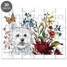 Westie Zoe 12x8 card Puzzle