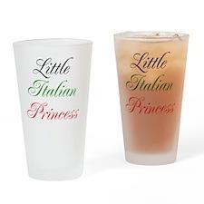 Little Italian Princess Drinking Glass