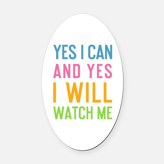Funny Office Oval Car Magnet