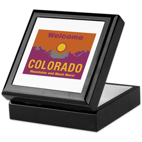 Welcome to Colorado - USA Keepsake Box