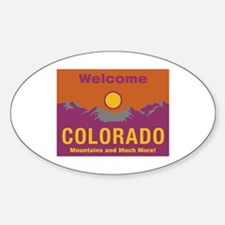 Welcome to Colorado - USA Oval Decal