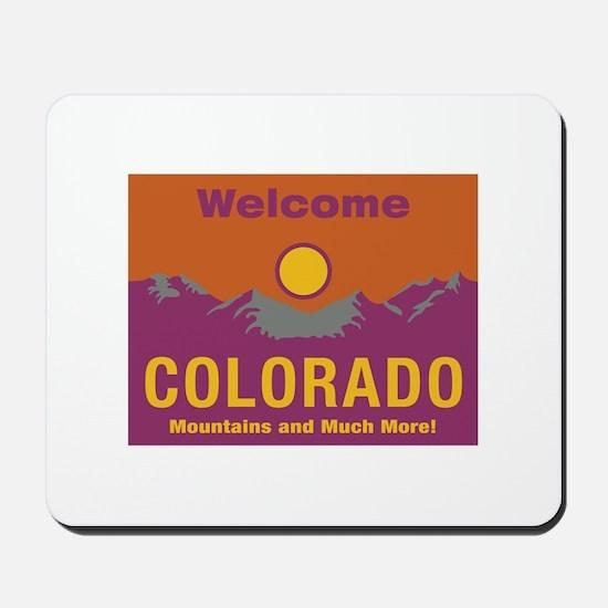 Welcome to Colorado - USA Mousepad