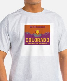 Welcome to Colorado - USA Ash Grey T-Shirt