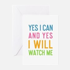 Cute Yes Greeting Cards (Pk of 20)