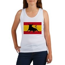 Spanish flag with bull Tank Top