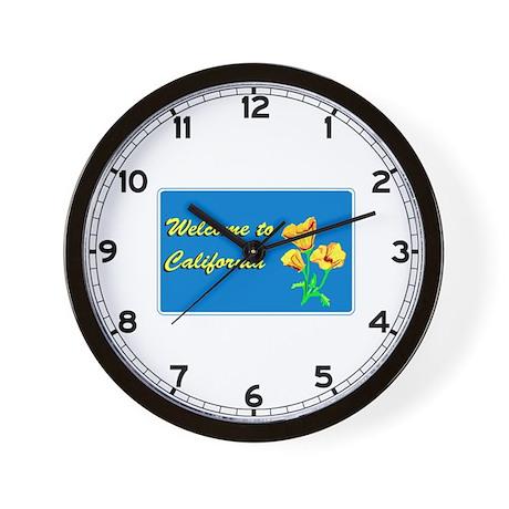 Welcome to California - USA Wall Clock