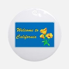 Welcome to California - USA Ornament (Round)
