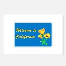 Welcome to California - USA Postcards (Package of