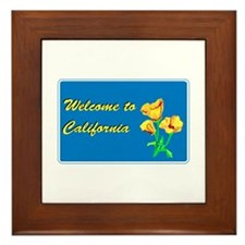 Welcome to California - USA Framed Tile