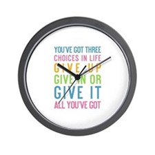 Cute Sports motivational Wall Clock