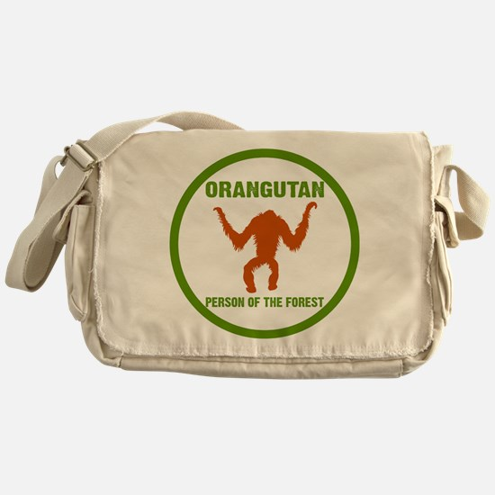 Orangutan Person of the Forest circl Messenger Bag