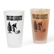 Hung Like a Sasquatch.gif Drinking Glass